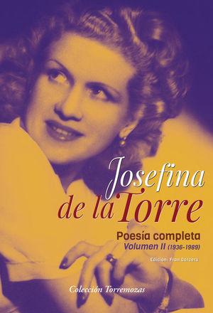 POESIA COMPLETA JOSEFINA DE LA TORRE VOLUMEN 2