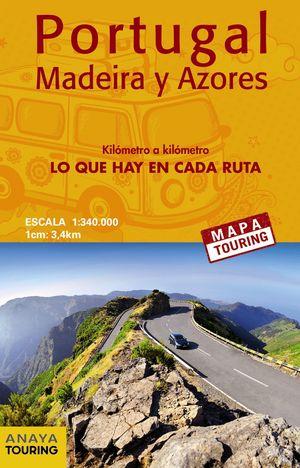 2018 MAPA CARRETERAS PORTUGAL, MADEIRA Y AZORES 1:340.000 - (DESPLEGABLE)