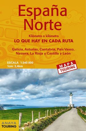 2019 MAPA DE CARRETERAS 1:340.000 - ESPAÑA NORTE (DESPLEGABLE)