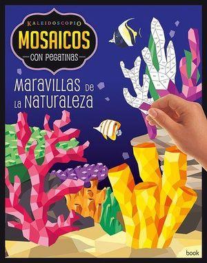 KALEIDOSCOPIO- MOSAICOS CON PEGATINAS PARA ADULTOS- MARAVILLAS NATURALEZA