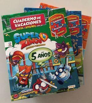 CUADERNO VACACIONES 5 AÑOS SUPERZINGS