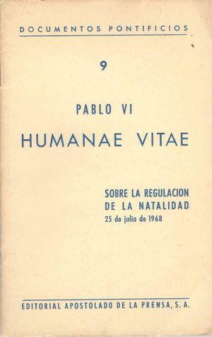 HUMANAE VITAE. PABLO VI