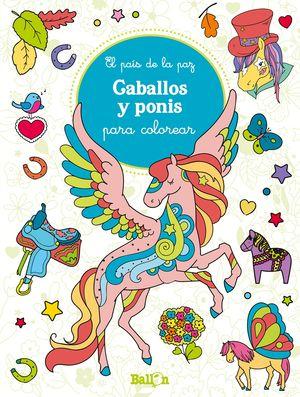 CABALLOS Y PONIS PARA COLOREAR