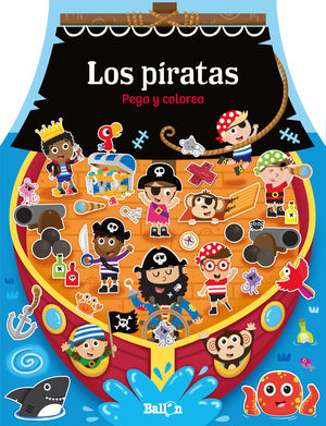 CASITAS - LOS PIRATAS PEGA Y COLOREA