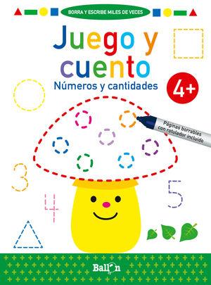JUEGO Y CUENTO - NUMEROS Y CANTIDADES +4